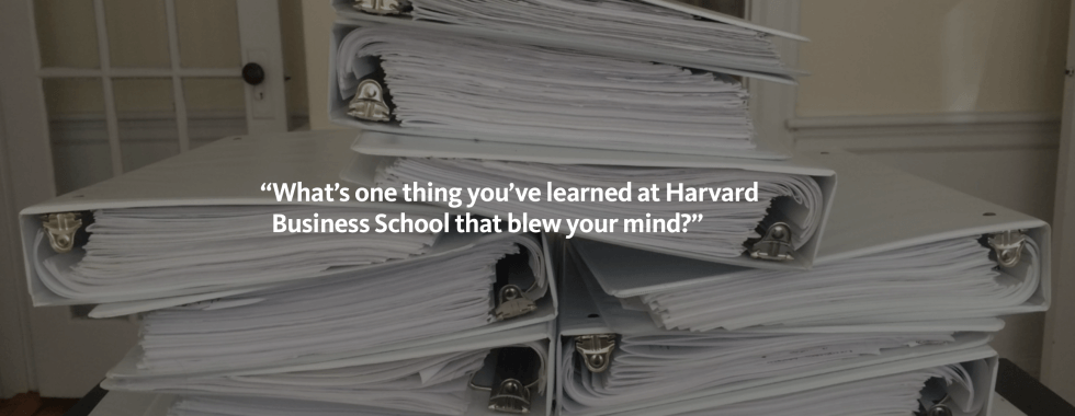 image of files from Harvard Business School