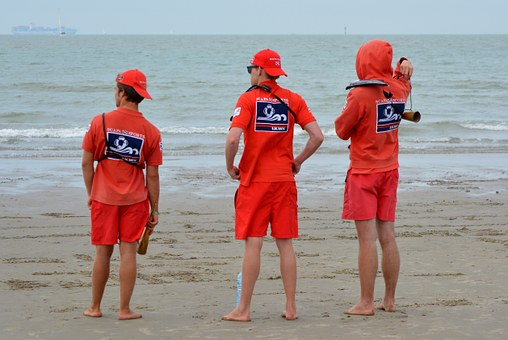 image of surf lifeguards watching the sea